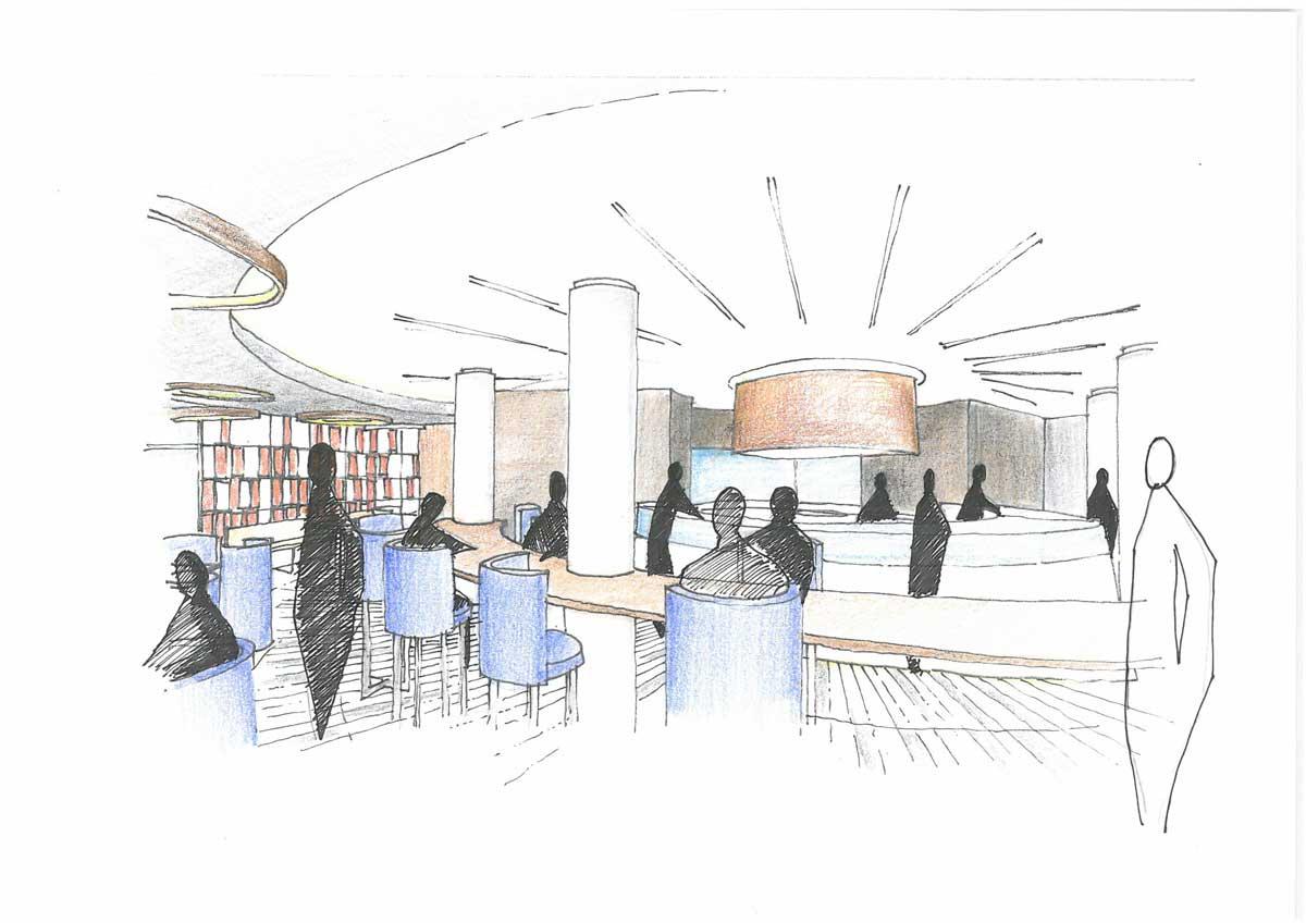 centro polifunzionale design interni
